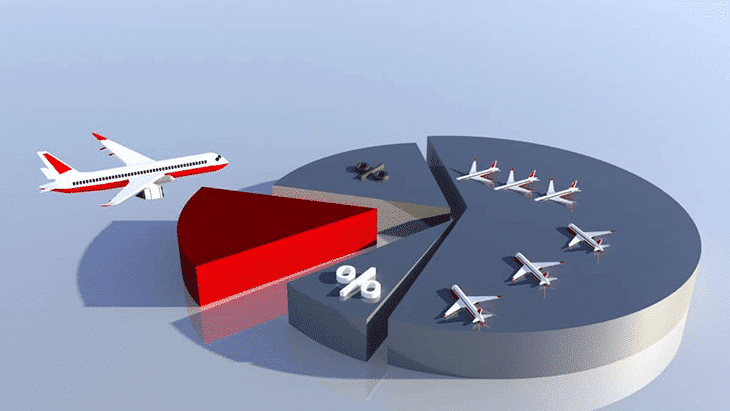 Plane Crash Statistics depicted by pie chart
