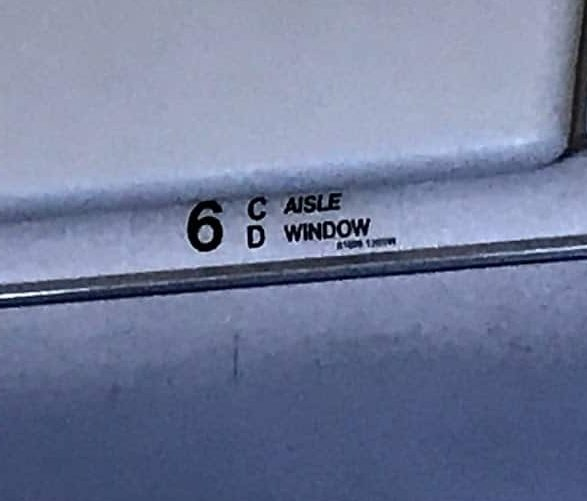 airplane seat marker