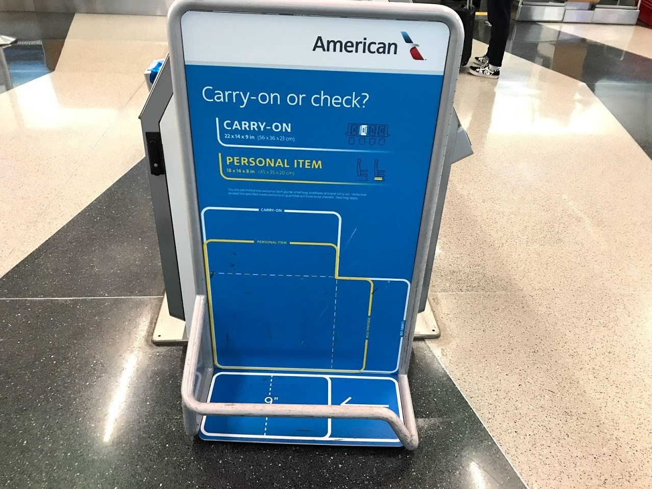 American Airlines Carry on Checker